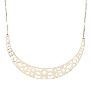 Stella & Dot Avalon Crescent Gold Necklace